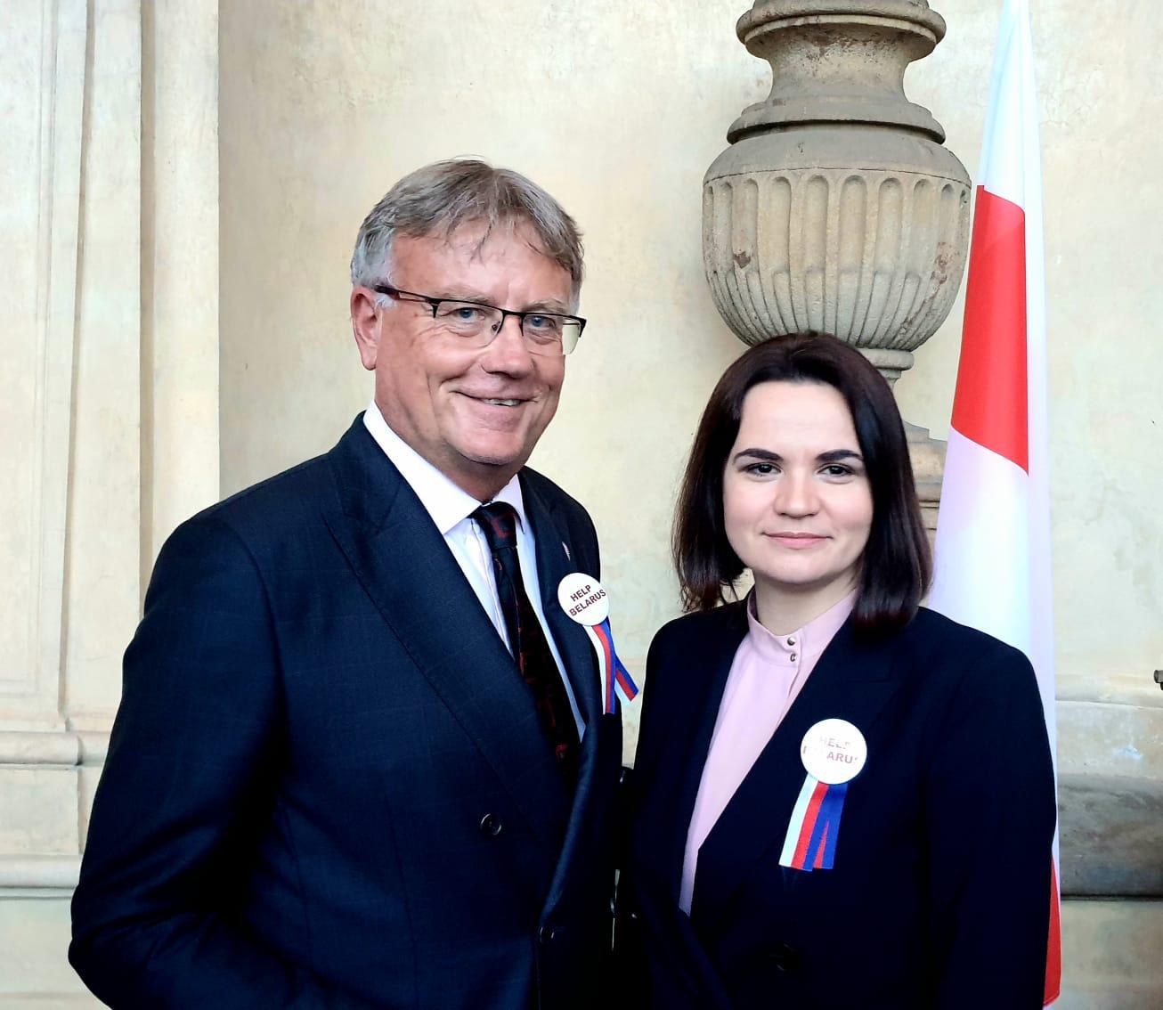Senát navštívila Svjatlana Cichanouská
