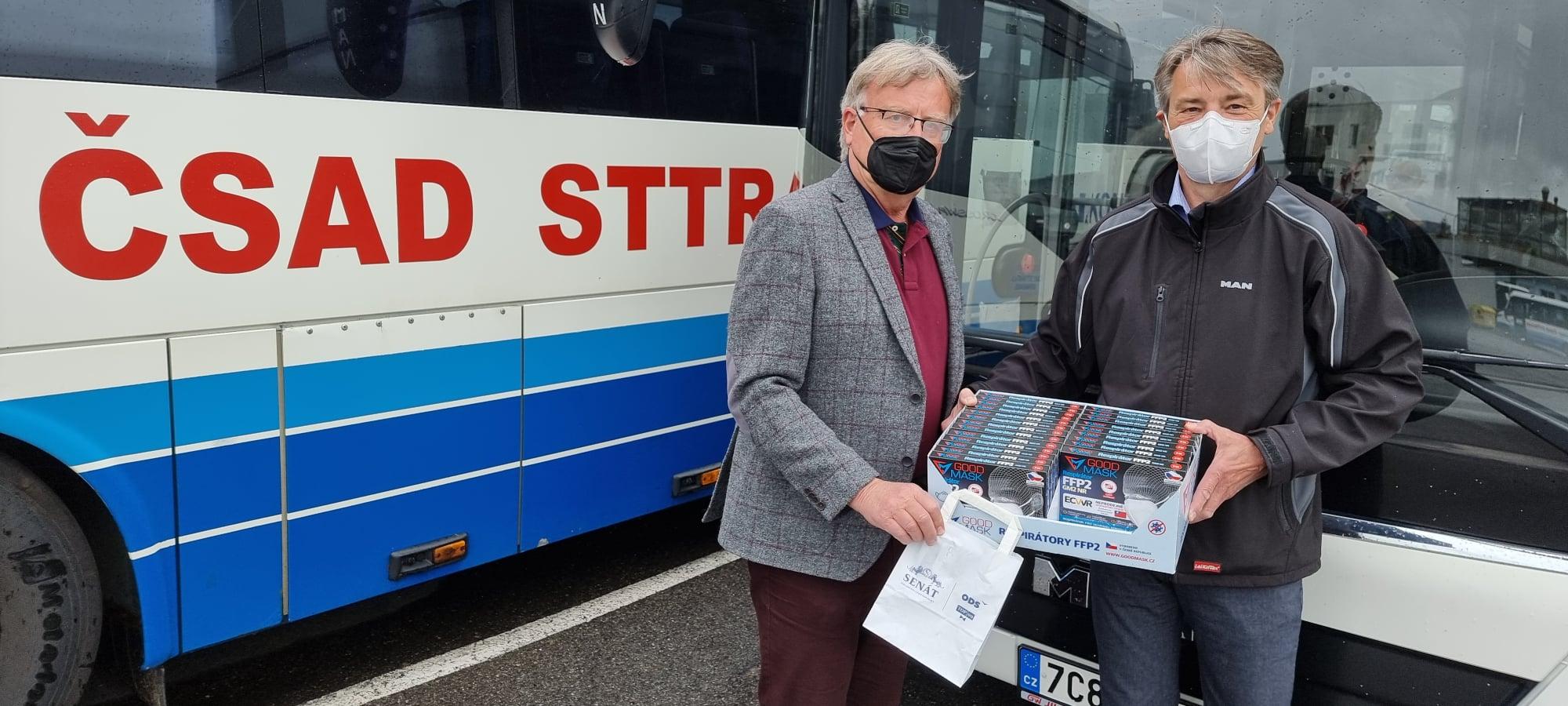 Respirátory pomohou i řidičům autobusů